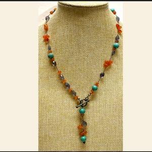 Vintage 925 Quartz stone necklace